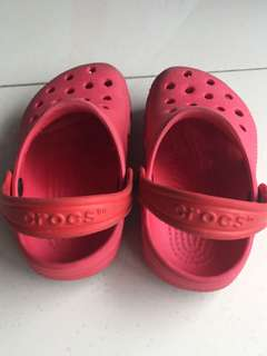 Red authentic crocs