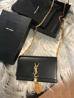 YSL kate monogram wallet on chain calfskin