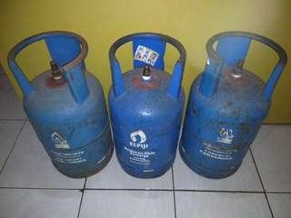 Jual Tabung Gas 12 kg (3 buah) tanpa isi/kosong.