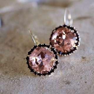 Swarovski Vintage Rose Earrings