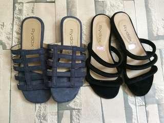 Suede/Velvet Sandals
