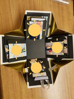 Golden 3 layer explosion box