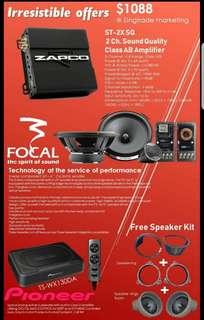 Audio Promotion Package (Focal + Zapco+Pioneer)