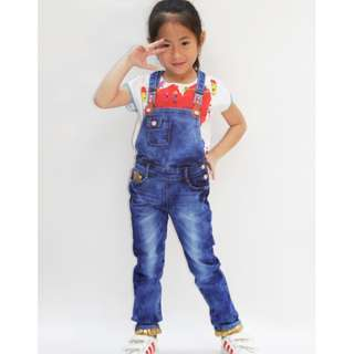 Overalls jeans with sequins