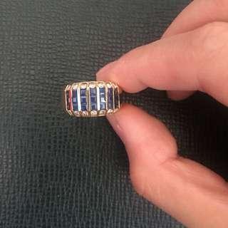 Sapphire Blue Ring