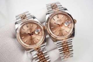 Rolex Datejust Rose Gold Jubilee Bracelet (1:1)