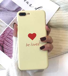Be Loved Heart Yellow iPhone Case