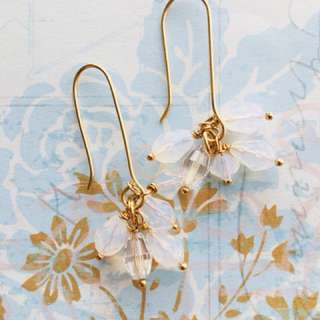 Swarovski cluster drop earrings