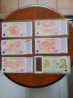 SG50 Last Prefix set  Commemorative Notes Set