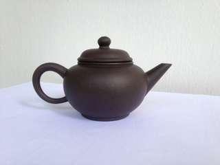 90年代六杯黑砂水平壶85cc Zhi Sha teapot