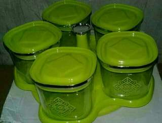 Toples canister flores