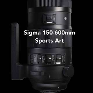 Sigma 150-600mm f/5-6.3 DG OS HSM Sports Lens for Canon and Nikon