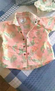 Floral Gingersnaps polo