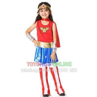 Girl Costume - Wonder Woman Cosplay Costume Deluxe Girl Movie Costume dress