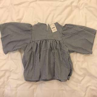 Baby doll striped top