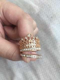 Gold Crown Princess Rings