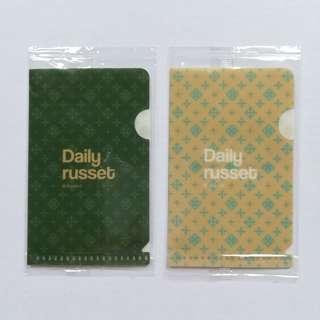 Daily Russet x glico - Card Case / Mini Clear File