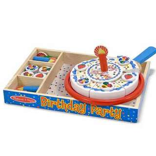 Melissa & Doug: Birthday Party全木製生日蛋糕套裝 Wooden Play Food