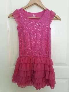 (size 7/8) Girls' Pink sequin dress