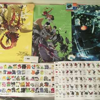 Digimon + Vpet A2 Poster (TOTAL 5 POSTER)
