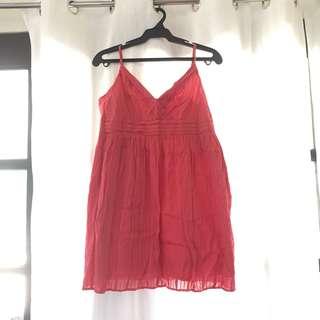 Coral Summer flowy dress ✨🍃
