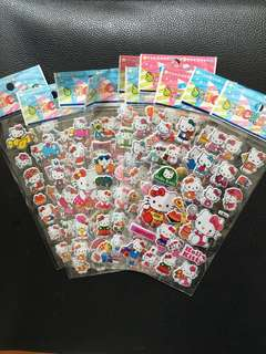(Bundles of 10 sheets)hello kitty kids stickers
