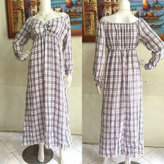 Checked Long Dress
