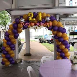 Balloon arch @zoeyhandiwork