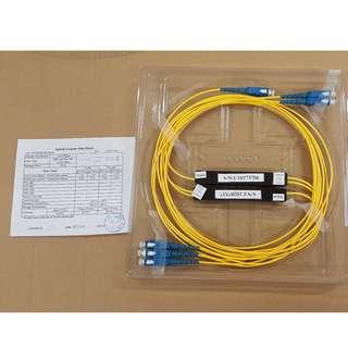 Fiber Splitter 1x2 (30% / 70%), Singlemode OS1, 9/125um, SC/SC
