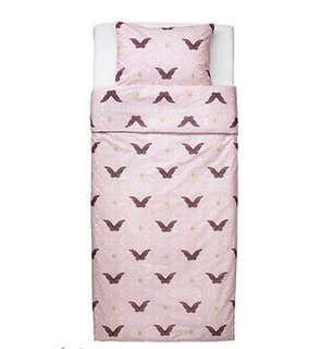 NEW IKEA Duvet Cover and Pillowcase Light Pink