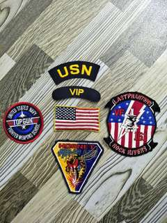 Patches for flight/bomba jacket