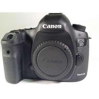 Canon EOS 5D3  盒裝 保卡 說明書 背帶 充電器 原電池1  (CB052)