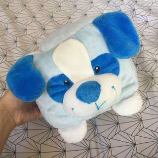 Fluffy Stuffed Blue Puppy