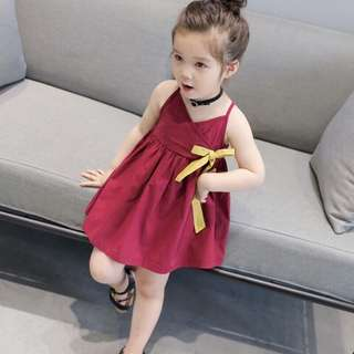 REPRICE!!!Red dress with yellow ribbon