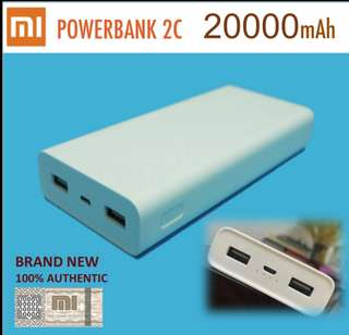 [Temporarily out of Stock] Authentic Xiaomi Power Bank QC3.0 Powerbank 20000 mAh Power Bank Portable Charger Dual USB Quick Charge For iPhone Samsung