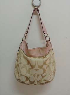 AUTHENTIC COACH FABRIC 2 WAY BAG