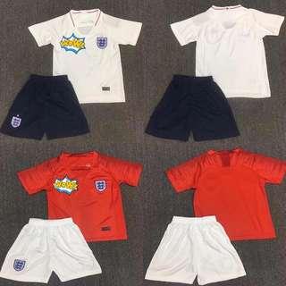 2018 England Kids jersey