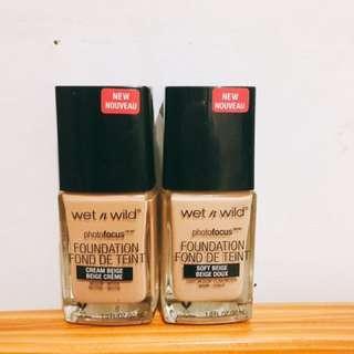 🚚 Wet n wild photo foucus foundation粉底液 cream beige