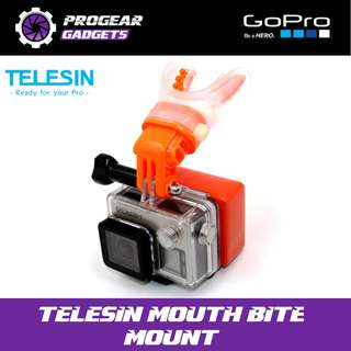 Telesin Mouth Bite Mount - For Gopro and all Action Cameras