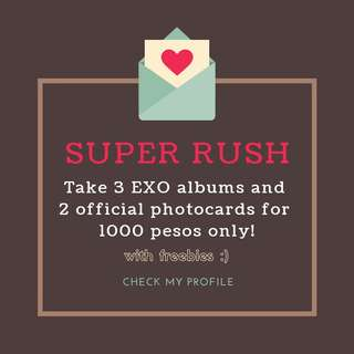 SUPER DUPER RUSH!!! EXO ALBUMS