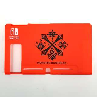 [In Stock] Nintendo Switch Matte Plastic Casing with Red MH XX Design with IINE Mario Red Silicone JoyCon Casing Set