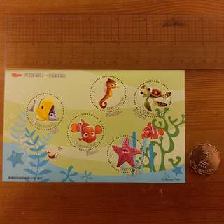 Cartoon Animation Souvenir Sheet ~ Finding Nemo 中華民國郵票 小全張