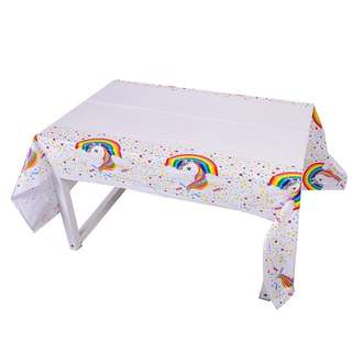 🦄 Unicorn Party Supplies - disposable table cover / tablecloth