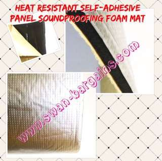 Thick 10mm Heat Resistant Aluminum Reflective Sheet Soundproofing Insulation Noise Dampening Self-Adhesive Foam Cushion Mat for Car Engine Bay & Boot Cover