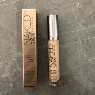 Urban decay naked skin weigh less complete coverage concealer