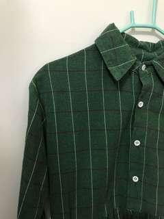 綠格紋襯衫#女裝半價