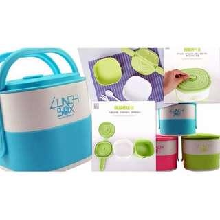 2 Layer Lunch Box Set Keep Warm