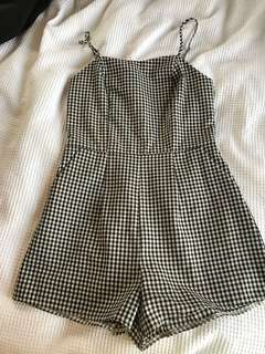 Cute gingham playsuit-never worn