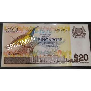 Singapore Bird Series $20 Banknote
