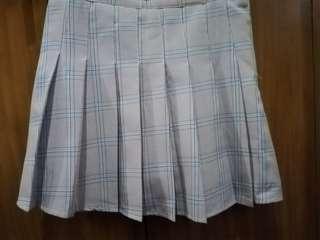 Stripe Pleated Korean Skirt